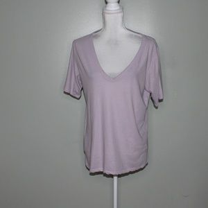 everlane women pale purple cotton shirt SZ M
